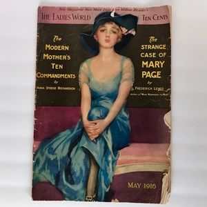 "Antique May 1916 ""THE LADIES' WORLD"" Magazine"